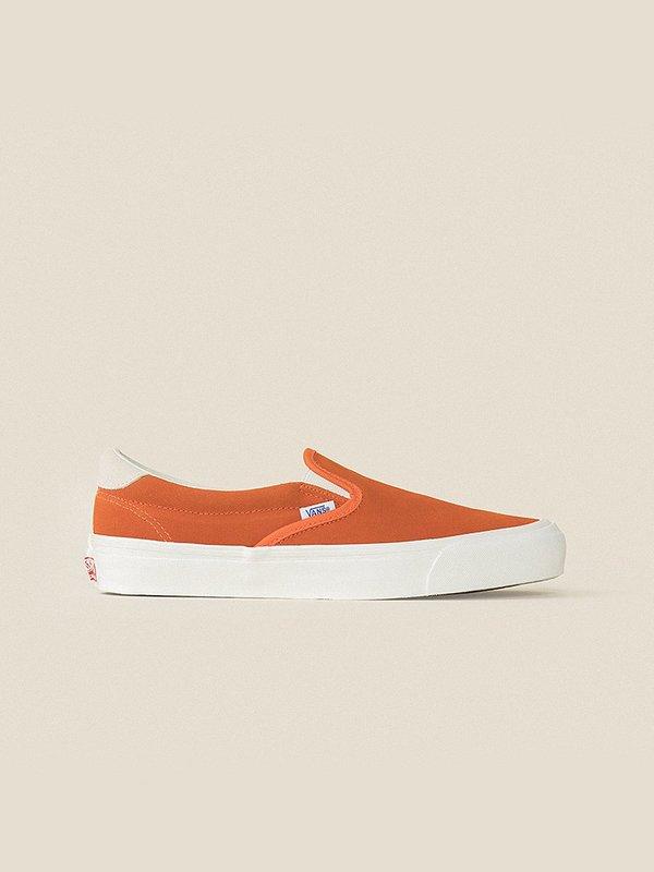 9720023465 VANS VAULT OG Slip-On 59 LX (Suede) Red Orange Marshmallow