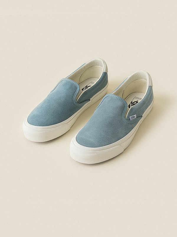 cf6182f331 VANS VAULT Suede OG Slip-On 59 LX - Smoke Blue Marshmallow
