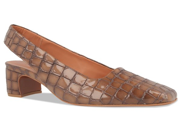 By Far Danielle Brown Croco Patent Leather