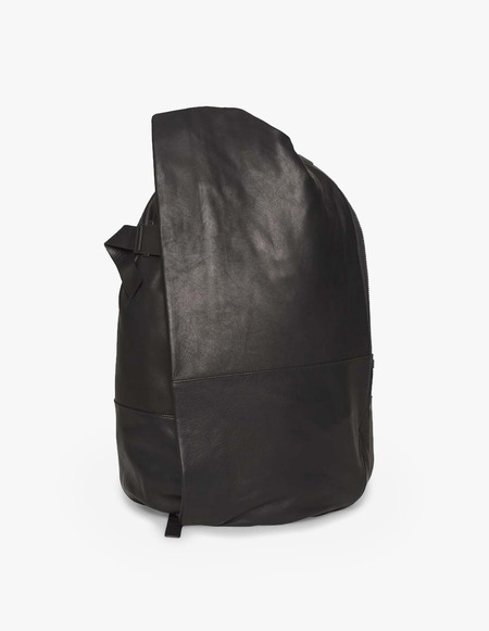 Côte & Ciel Alias Leather Isar Medium Rucksack - Black