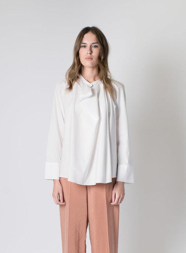 67d48ddbba9849 Lemaire Poplin Blouse - White | Garmentory