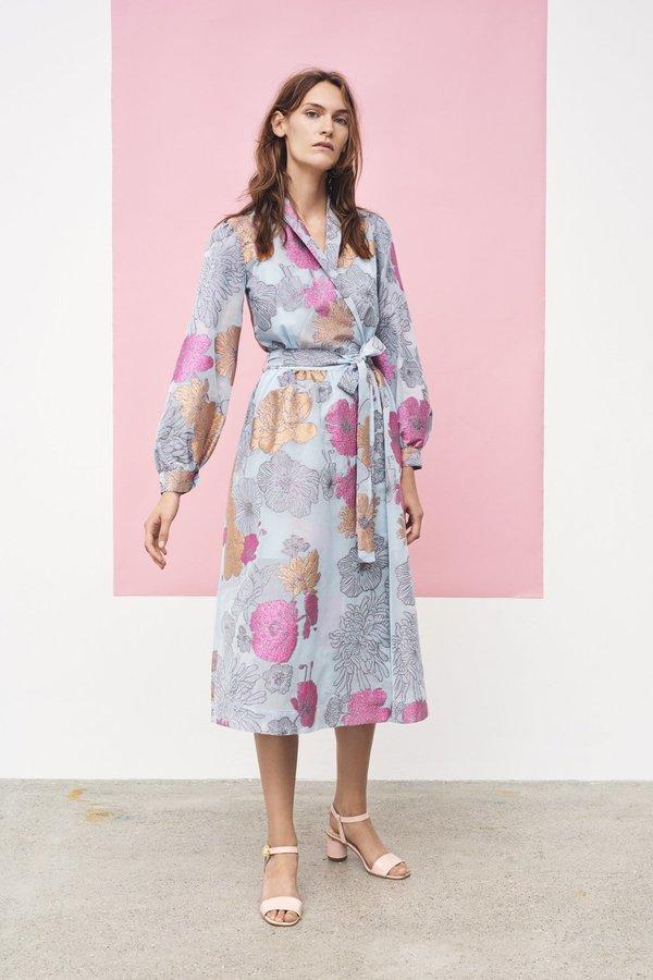 c4a3f359 Stine Goya Micaela Chiffon Dress - Flowers Sky | Garmentory