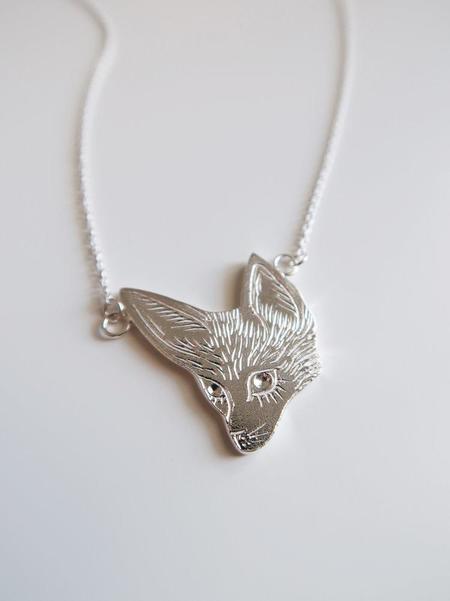 Invidiosa Jewelry Fennec Fox Necklace - Silver