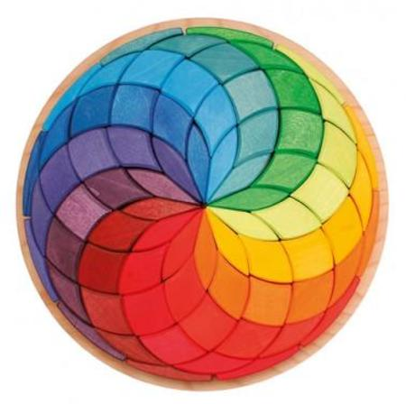 Grimm's Wooden Large Spiral Circle Puzzle