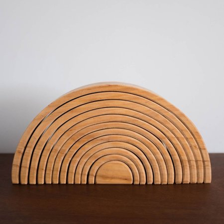 Kids Grimm's Large Wooden Rainbow  - Natural