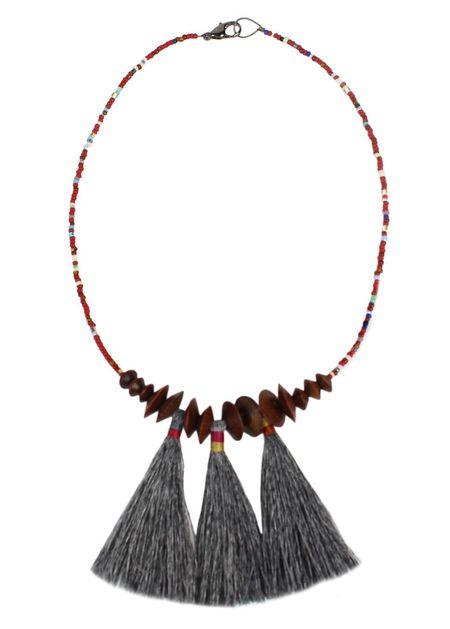 Bluma Project Ash Sioux Wood & Tassel Necklace