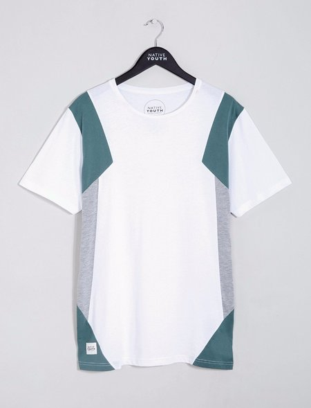 Native Youth Delaware Colour Block Tee - White