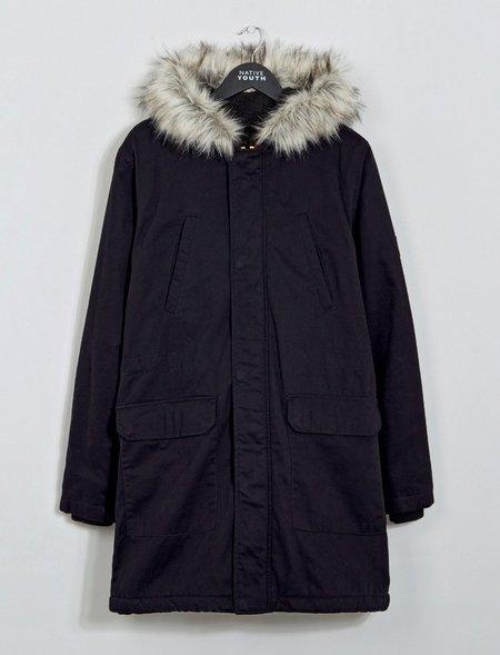 Native Youth Iceberg Parka Jacket - black