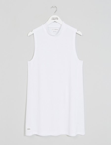 Native Youth Lapilli Dress - White