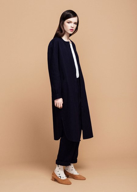 Hansel from Basel Cotton Imogen Dress - Navy