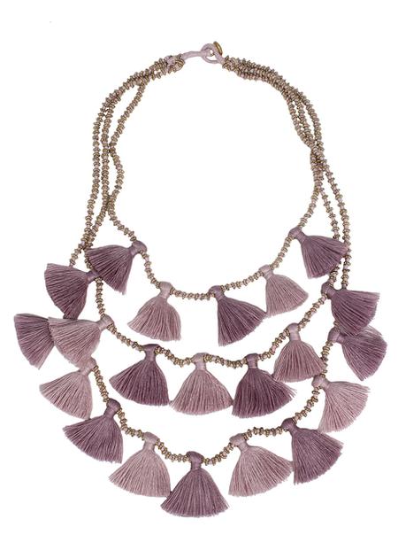 Bluma Project Gia Multi Strand Tassel Necklace - Orchid