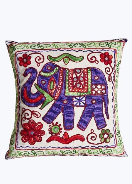 Imported Purple Handmade Elephant Pillow