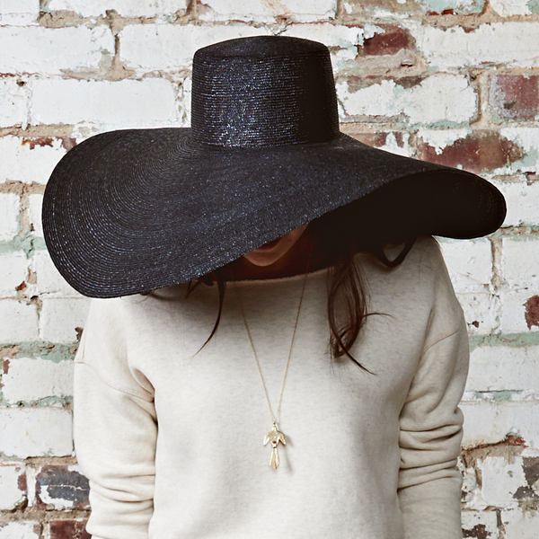 e119fc23483 Samuji Straw Halo Hat - Black