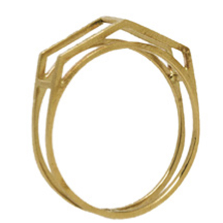 Lexington Standard Geometric Ring II - 14k Gold