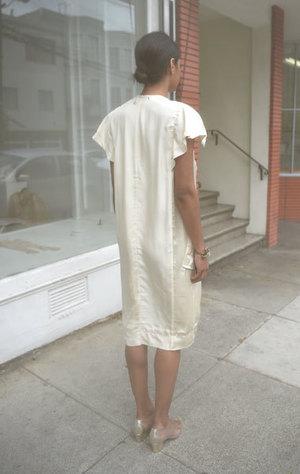 Carven Cream Viscose Dress - Cream