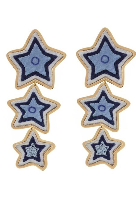 Makua Estrella Maxi Earrings - Blue