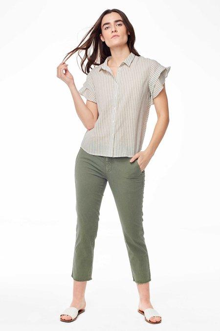 Chan Luu Genevieve Button Up - Natural Stripe