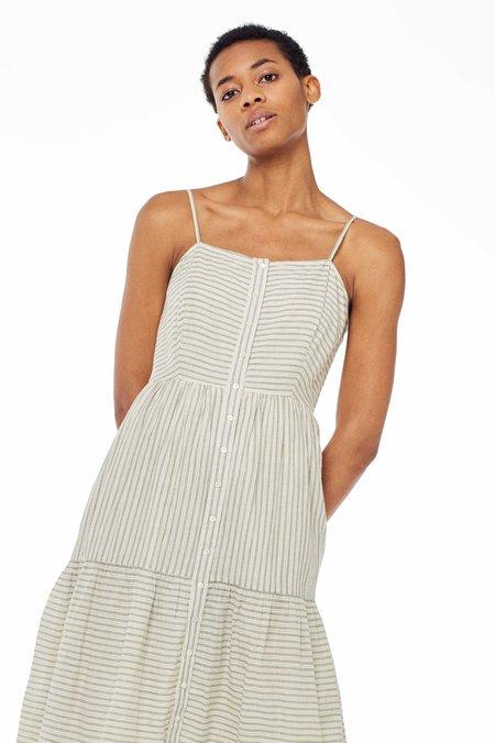 Chan Luu Layla Dress - NATURAL STRIPE
