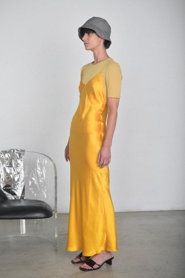 Shoptagr Prisca Vera Long Slip Dress Goldenrod By Garmentory