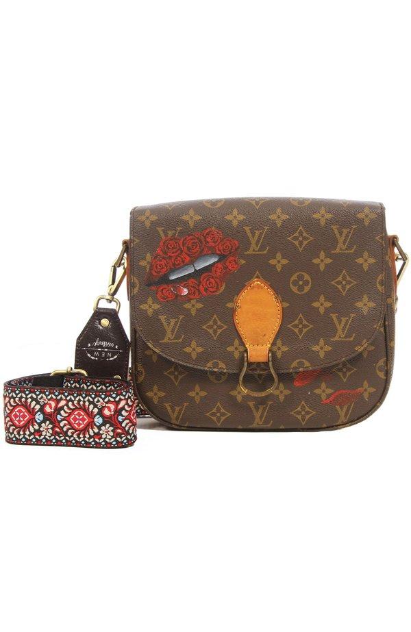 New Vintage Louis Vuitton Rose Lips Crossbody Bag  f96a397fe2f19