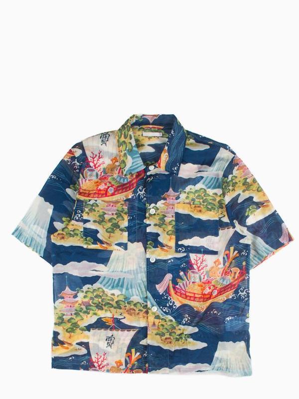 cf7cacd9 Shoptagr | Our Legacy Box 2 P Short Sleeve Shirt Crossing The Seven ...