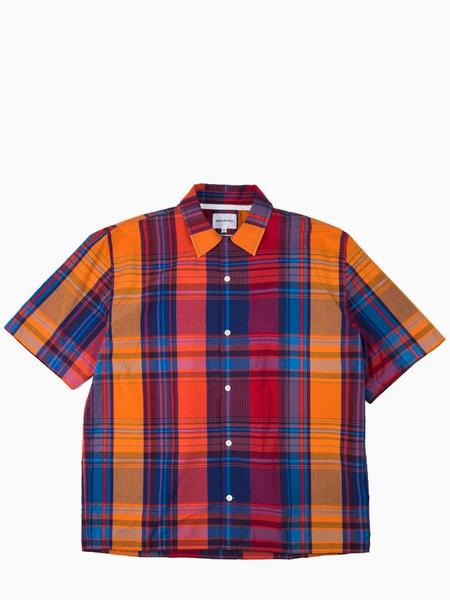 Norse Projects Carsten Check Shirt - Coral Red
