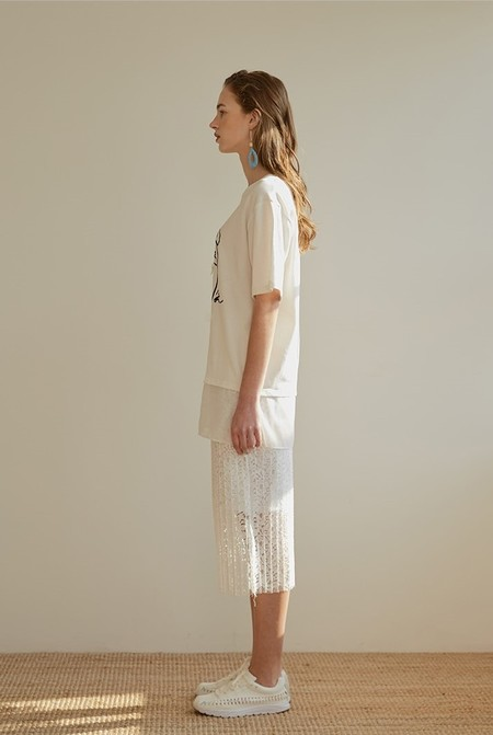 Among SEQUIN MARION Top - IVORY