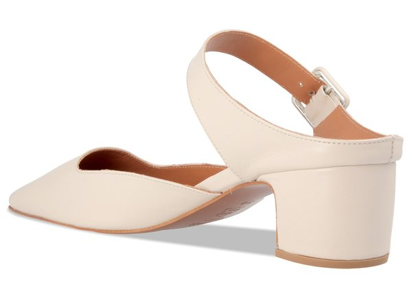 By Far Shoes Mira White Leather