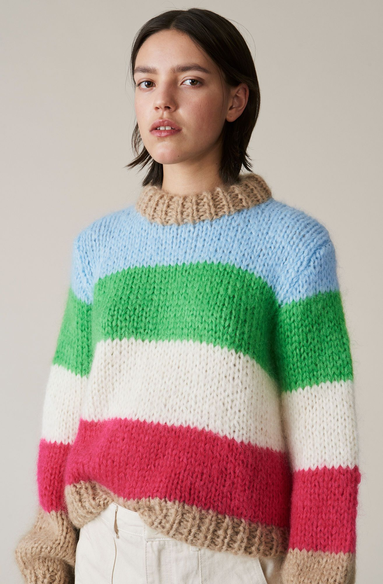 070c28665fe Ganni The Julliard Mohair Pullover - Stripe | Garmentory