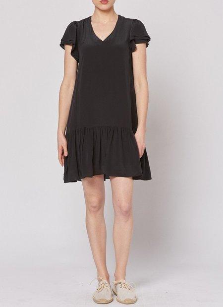 Built by Wendy Silk Drop Waist Dress - BLACK