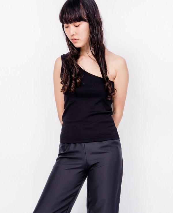 70aacba8ee93 BY SIGNE One Shoulder Top - Black | Garmentory