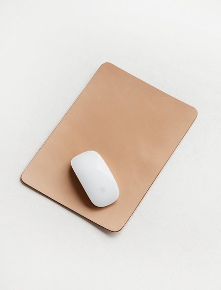 Isaac Reina Objects 319 A4 Leather Mouse Pad - Natural