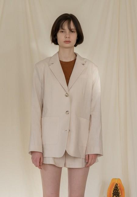 AMONG A Linen Jacket - BEIGE