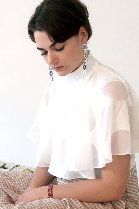 Modern Weaving LOBE CHANDELIER Earrings - Silver