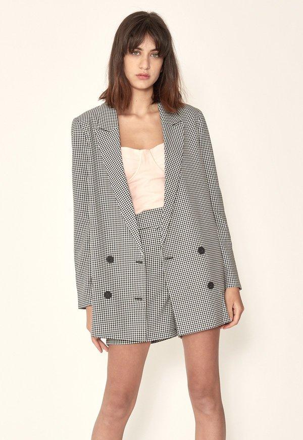 Just Amalie Houndstooth Female Garmentory Blazer x4zwPqBFc4