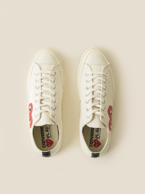 44c6ad403f70 CDG x Converse Chuck Taylor All Star  70 Low - White.  135.00