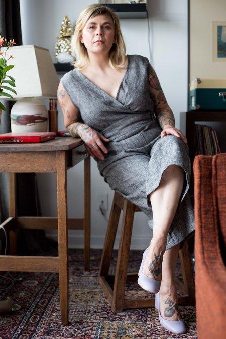 June Isle Heather Jumpsuit - Charcoal