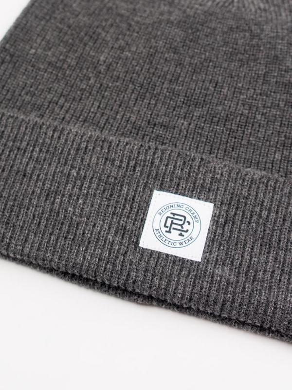 f365a5df4a5 Reigning Champ Knit Merino Wool Classic Beanie - Heather Charcoal. sold  out. Reigning Champ