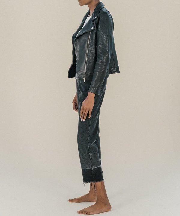 Just Female Came Buff Leather Jacket - Black