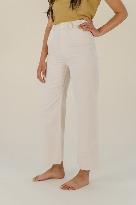 Apiece Apart Merida Pant - Cream