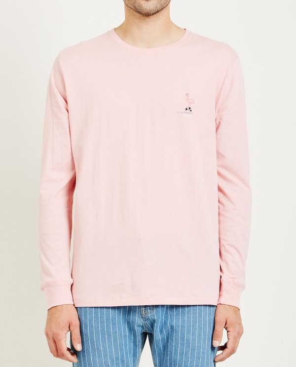 404e8a7e53 Barney Cools FLAMINGO DISCO LONG SLEEVE TEE - PINK
