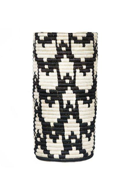 All Across Africa Tall Imbere Vase - Black/White