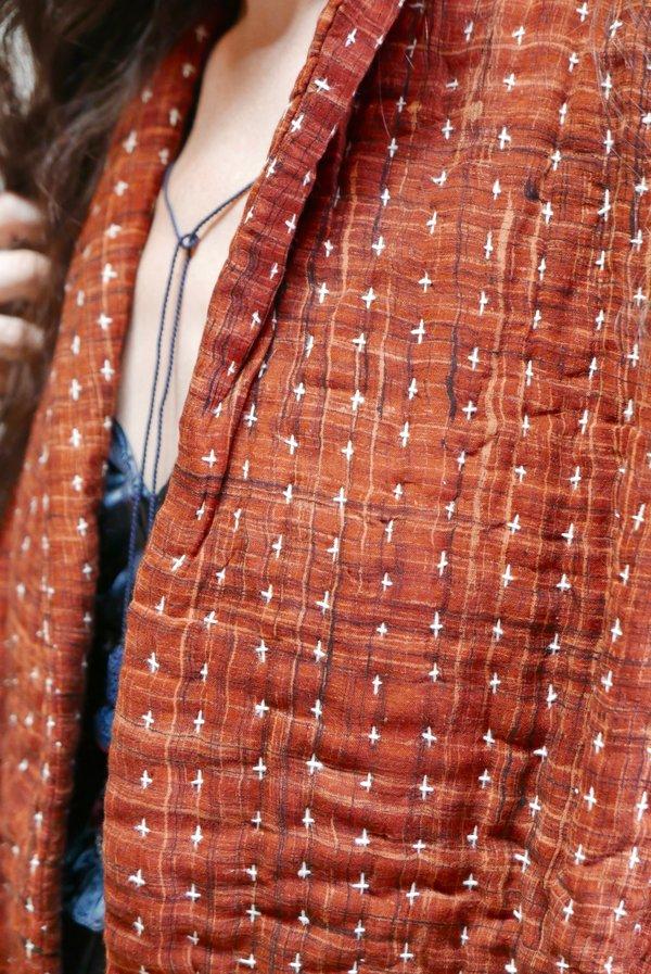 Neeru Kumar Quilted Swing Jacket - Rust