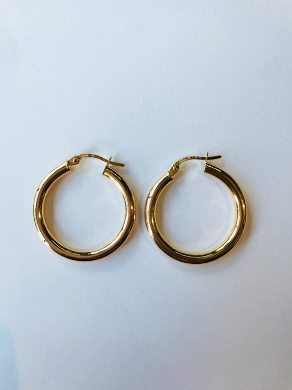 LARGE 9ct Gold Patterned Hoop Earrings gf DON/'T MISS THESE,SEE PICS { 94 }