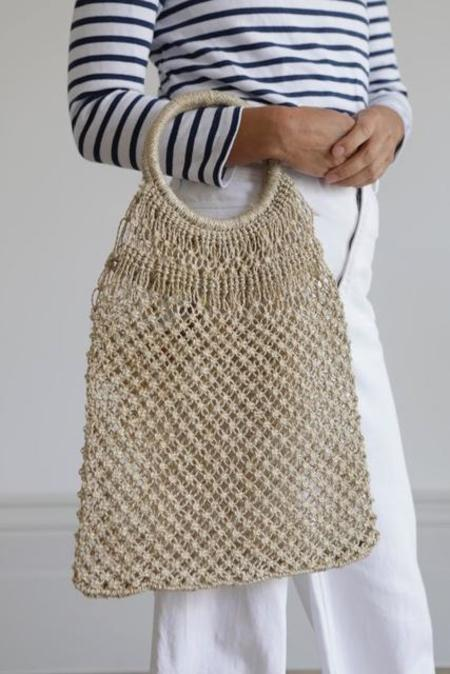 Maison Bengal Macrame Round Handle Bag