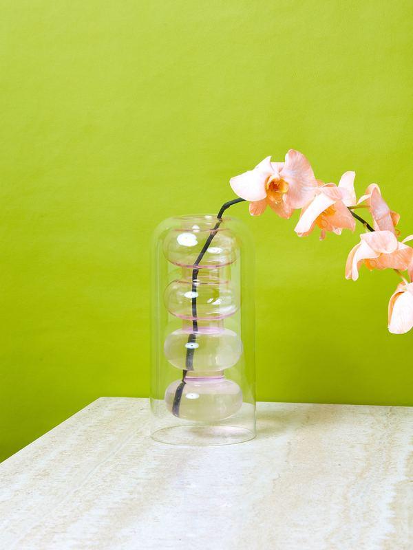 Tom Dixon Bump Vase Pink And Grey Garmentory