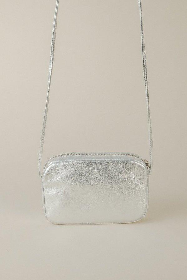 Baggu Mini Purse - Silver