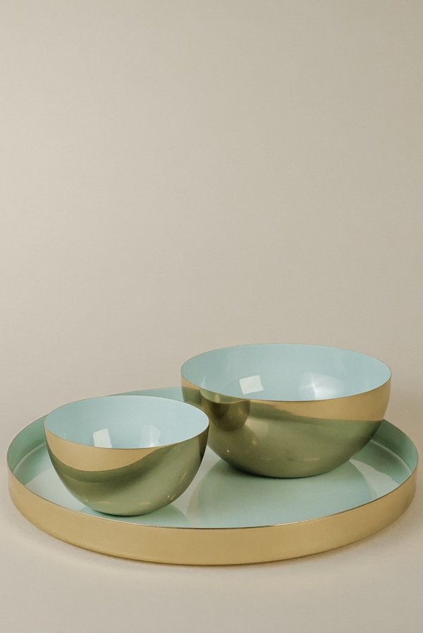 Hawkins New York Large Tray - Brass/Mint