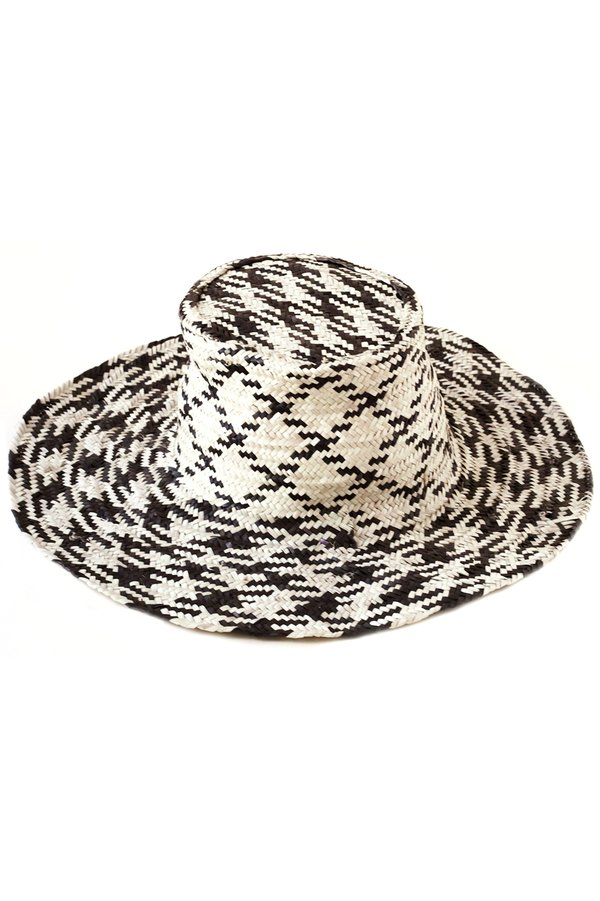 da62d824dc9 Indego Africa Woven Wide Brim Hat - Black Natural