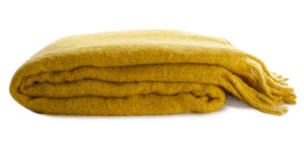 Hawkins New York Mohair Throw - Mustard